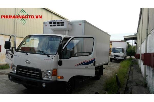 xe tải Hyundai HD700 7 tấn thùng đông lạnh